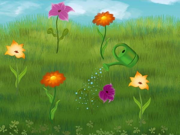 gra kwiatki magiczny dywan